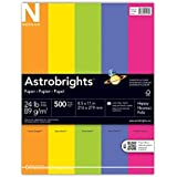 Neenah Astrobrights Premium Color Paper Assortment, 24 lb, 8.5 x 11 Inches, 500 Sheets, Happy