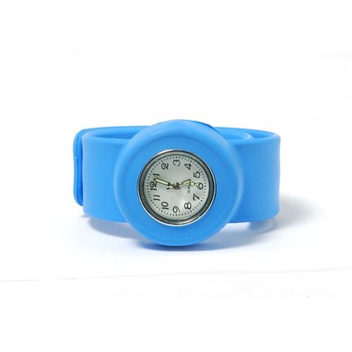 BLUE Kids Slap On Quartz Silicone Sports Watch