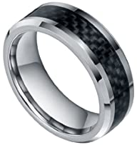 8mm Tungsten Carbide Rings Black Carb…