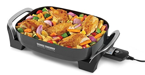 Brand New George Foreman Sk0010B Skillite Digital Searing Skillet With Sear Setting And Gr
