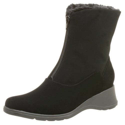Naturalizer Women's Dinara Ankle Boot,Black Smooth,12 W