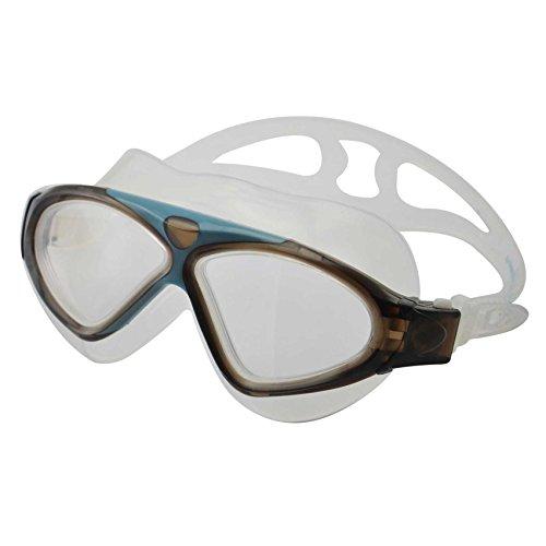 »Stingray« Schwimmbrille, 100% UV-Schutz + Antibeschlag + 180° View. Starkes Silikonband + stabile Box. TOP-MARKEN-QUALITÄT! AF-3200 schwarz