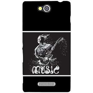 Sony Xperia C Back Cover - Music Designer Cases