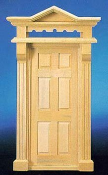 Dollhouse Victorian 6 Panel Door by Superior Dollhouse Miniatures