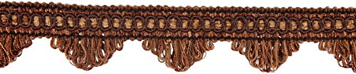 11 Yard Value Pack Of Decorative Mocha Scallop Fringe Gimp Braid, 1.5 Inch, Style# Sf0150 Color: Brown Db2 (33 Ft.)