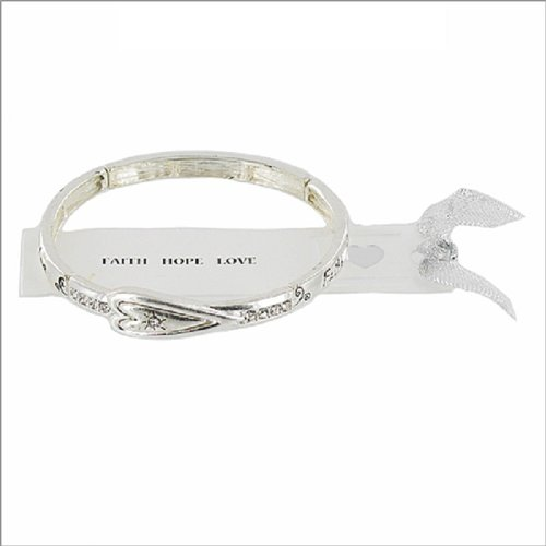 JOA Faith, Hope & Love Theme Stretch Bracelet #039417