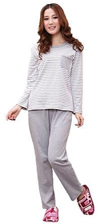 Women's Loungewear Sport Sets, Cotton Pajama Sets - L