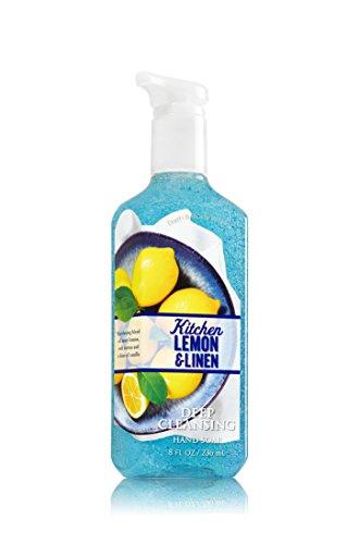 Bath & Body Works Deep Cleansing Hand Soap Kitchen Lemon & Linen Bath Body Linen