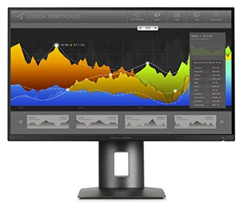 HP Z27n K7C09AT 68,5 cm (27 Zoll QHD) Monitor (DVI-D, HDMI, USB, 14ms Reaktionszeit, 2560 x 1440) schwarz