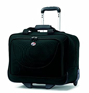 American Tourister Luggage Splash Wheeled Boarding Bag, Black, 17 Inch