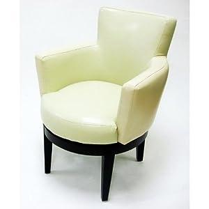 Armen Living Swivel Club Chair Cream Armchairs