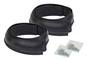 """Pacer Performance 52-156 Flexy Flares Black 2-1/2"""" x 58"""" Standard Duty Rubber Fender Extension Kit - 4 Piece"""