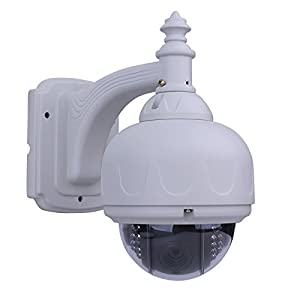 ANRAN Pan/Tilt PTZ Outdoor Dome Security Camera High Resolution 700TVL EFFIO-E CCD Waterproof IR Day Night Vision Surveillance CCTV system 5-15mm varifocal lens RS-485 control