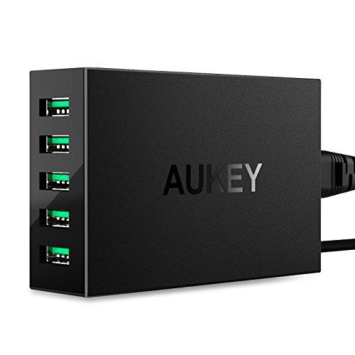 Aukey USB 急速 充電器 ACアダプター 50W 10A 5ポート AiPower機能搭載 Apple iPad / iPhone / iPod / Xperia / Nexus / Galaxy等対応 (ブラック)PA-U33
