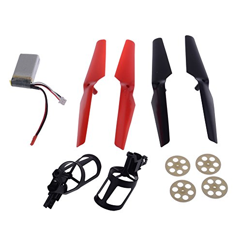 Neewer RC Spare Parts Helicopter Accessories Bag Replacement Kit with Propeller - Gear - Motor Seat Battery for Wltoys V262