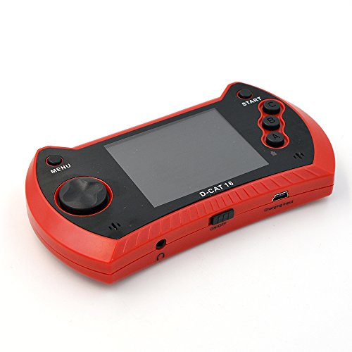 D cat 16 bit handheld portatif retro vid o jeux console de poche portable game console player - Console de jeux pour enfant ...
