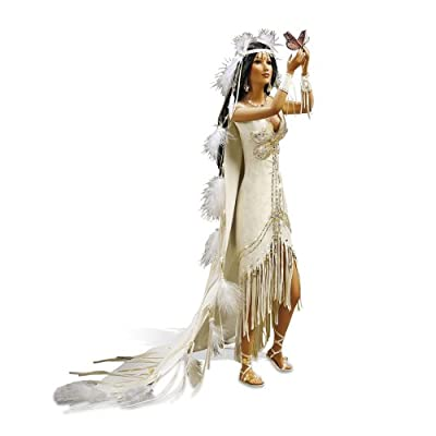 The Bradford Exchange 'Love Takes Wings' - Bride Doll with Butterfly by Sandra Bilotto - Handpainted Porcelain