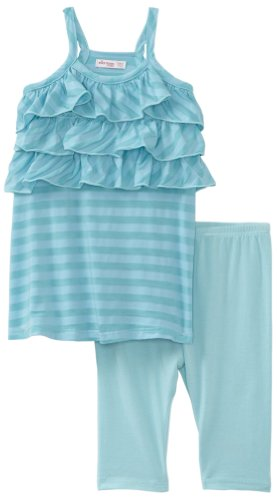 Little Ella Baby-girls Infant Mini Waldo Tunic Legging Set, Breeze, 12-18 Months