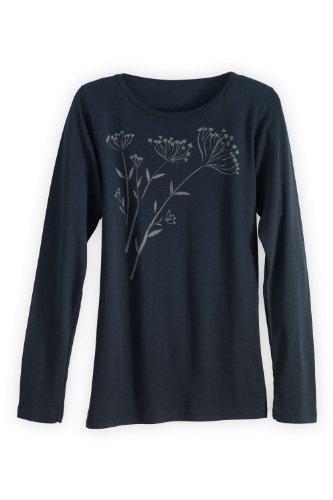 Green 3 Apparel Long-Sleeve Fennel Organic Usa-Made T-Shirt (M, Black) front-796938