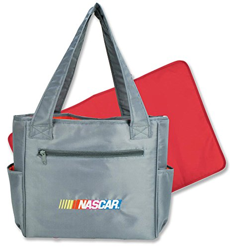 Steel Gray Designer Nascar Diaper Bag for Mom or Dad - Bottle and Diaper Totebag - 1