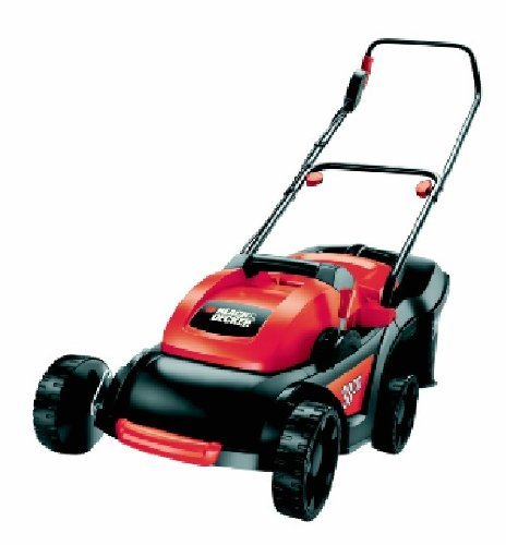 Black  &  Decker 38cm Rotary Lawn Mower with 45 Litre Collection Bag