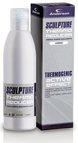 Crema Uomo riducente termogenica brucia grassi Anderson Sculpture dimagrante per definizione addome, pancia, fianchi, glutei