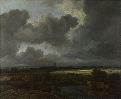 The Polyster Canvas Of Oil Painting 'Jacob Van Ruisdael An Extensive Landscape With Ruins ' ,size: 10 X 12 Inch / 25 X 31 Cm ,this Vivid Art Decorative Canvas Prints Is Fit For Hallway Artwork And Home Gallery Art And Gifts (Valley Fifth Wheel Rails compare prices)