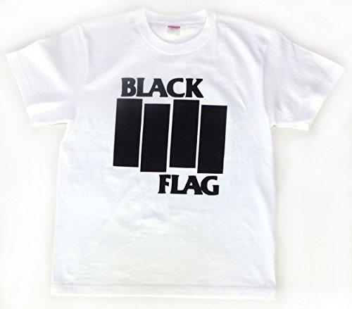 バンド(ロック)Tシャツ BLACK FLAG 白 MLサイズ ★★ (l)