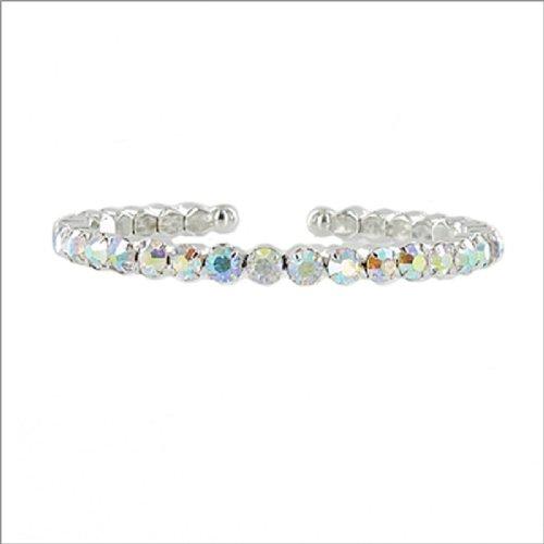 JOA One Line Crystal Stone Cuff Bracelet #041370