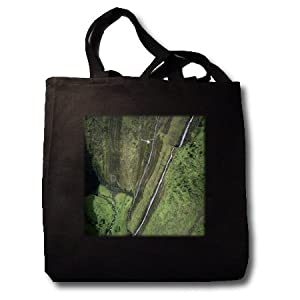 Helicopter, Waimanu Valley, Hawaii - US12 DPB0424 - Douglas Peebles - Black Tote Bag JUMBO 20w X 15h X 5d