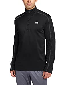 adidas Men's Black Friday Quarter Zip Jacket, Black/White, XXX-Large