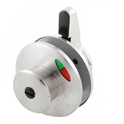 uxcell Cubicle Toilet Partition Rotating Door Lock Indicator Bolt Silver Tone (Door Handle Occupied compare prices)