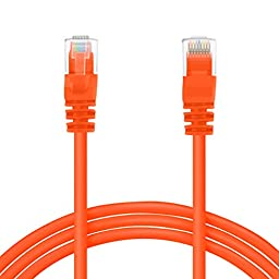 GearIt 150 Feet Cat 6 Ethernet Cable Cat6 Snagless Patch - Computer LAN Network Cord, Orange [Lifetime Warranty]