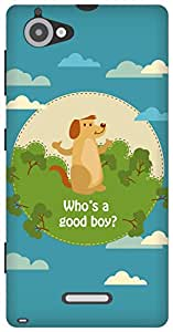 The Racoon Lean Good Boy hard plastic printed back case/cover for Sony Xperia L