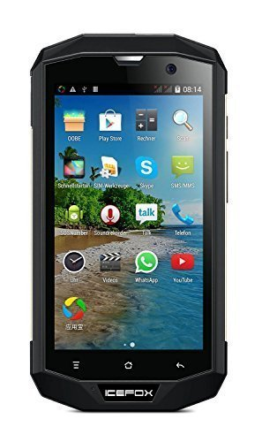 icefox(R) Hero, 4G LTE Android Outdoor Smartphone, Ohne Vertrag,Quad Core IP68, wasserdichtes Handy, 5,0 Zoll HD 720P Display,1GB RAM,8GB ROM (5,27 GB für Benutzer), 8MP Kamera, WiFi, GPS, FM,Bluetooth 4,0, 4050mAh Akku,Versand aus Deutschland