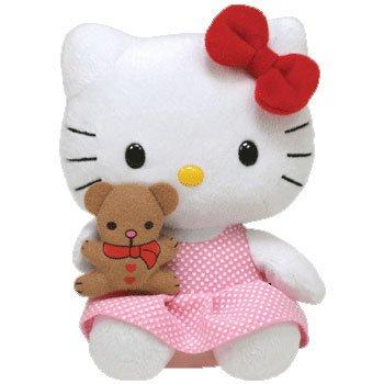 Imagen de Ty Beanie Baby Hello Kitty con Bear
