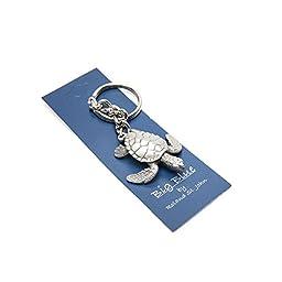 Quality, Realistic and Life-like Key Chain - Dolphin, Shark, Manatee, Sea Turtle, Stingray, Moray Eel, Scuba Tank, scuba dive diving diver key chain scuba gear dive gear hammerhead shark teeth jaws ocean sea clown fish dive flag (Sea Turtle Pewter Shell)