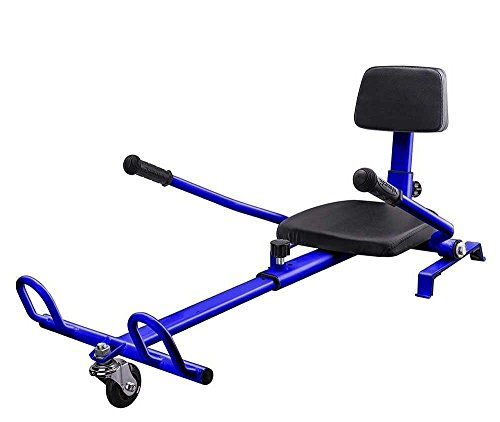 Hover Go Kart for Hoverboards, transform your Hoverboard into Go-Kart, Fully Adjustable fits Kid to Adult, Compatible with all Self Balancing Scooter (not included) - BLUE (Cheap Go Cart Motor compare prices)