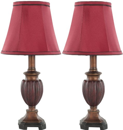 Safavieh Lighting Collection Paul Mini Table Lamp, Set of 2