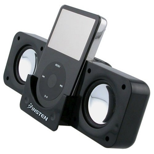 Black Foldable Multimedia Music Speaker for MP3 MP4 iPod iPhone