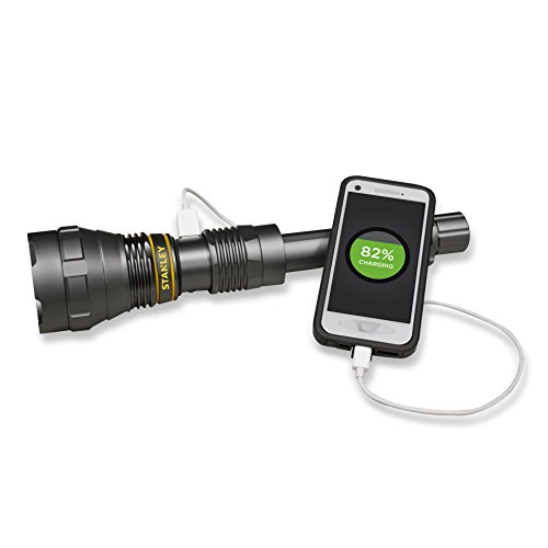 Stanley 5 Watt Led Rechargeable Spotlight: Stanley TL1KPS Rechargeable 1000 Lumen LED Flashlight With