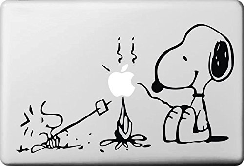 "Vati fogli smontabili bella Snoopy e Woodstock Grams Decal Sticker Art nero per Apple Macbook Pro Air Mac 13 ""15"" pollici / Unibody 13 ""15"" Laptop Inch"