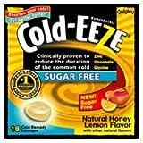 Hollister Quigley Cold-Eeze Sugar Free All Natural Honey Lemon Cold Drop Lozenges