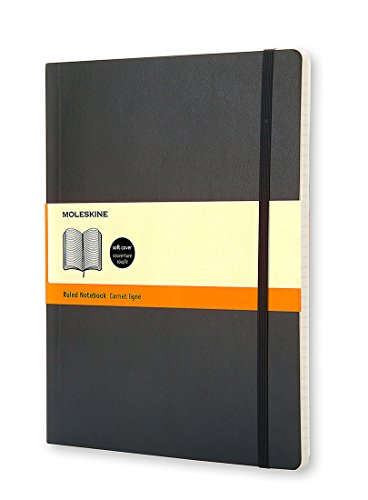 Moleskine Classic Notebook, Extra Large, Ruled, Black, Soft Cover (7.5 x 10) (Classic Notebooks)