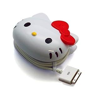 PGA iPhone/iPod対応 サンリオキャラクター ダイカットAC充電器 ハローキティ  RX-KTY539DO