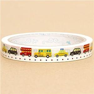 Ruban adhésif décoratif rigolo motif bus voitures taxis