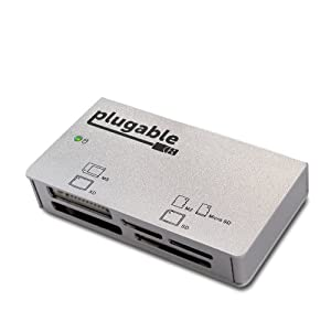 Plugable Aluminum SuperSpeed USB 3.0 12-in-1 6 slot Memory Card Reader (Including UDMA CF and UHS-I SD, SDXC, SDHC, MicroSD) from Plugable Technologies