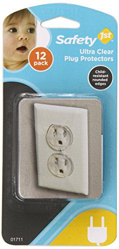 Safety 1St Ultra Clear Outlet Plugs 12Ea
