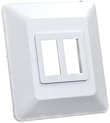 JR Products Double Switch Base and Face Plate