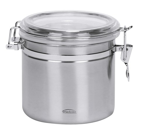 Trudeau 30-Ounce Stainless Steel Airtight Canister, Satin Finish